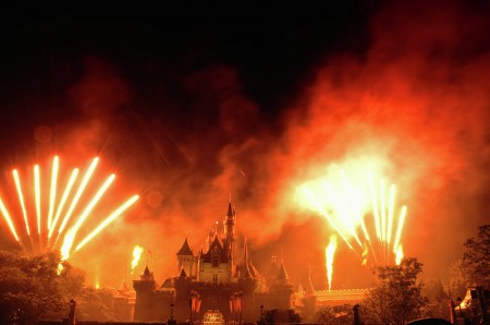 """Hong Kong Disney Fireworks""<br />Closing fireworks ceremony at HK Disneyland..."